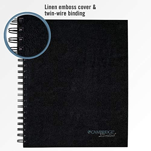 Cambridge Business Notebook With Pocket, Hardbound, 8-14 X 11 Inches, Black
