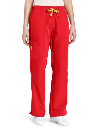 picture of WonderWink Women's Scrubs Four Way Stretch Sporty Cargo Pant, Poppy, X-Small