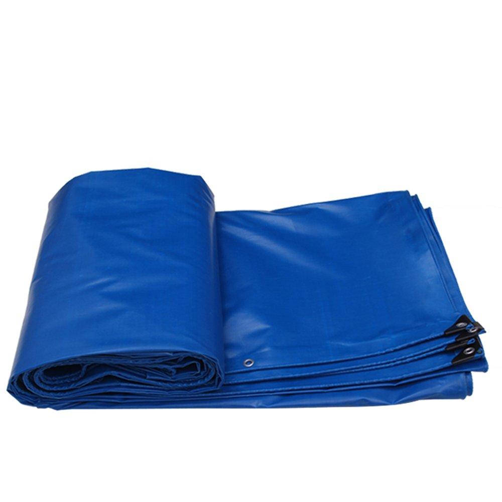 YNN ターポリン日焼け止め布防水保温日焼け止め屋外キャンバス厚い雨布布地防水布防水布 防水シート (色 : Blue, サイズ さいず : 8 * 6m (actual 7.8 * 5.8m)) B07FNX3YNQ 8*6m (actual 7.8*5.8m)|Blue Blue 8*6m (actual 7.8*5.8m)