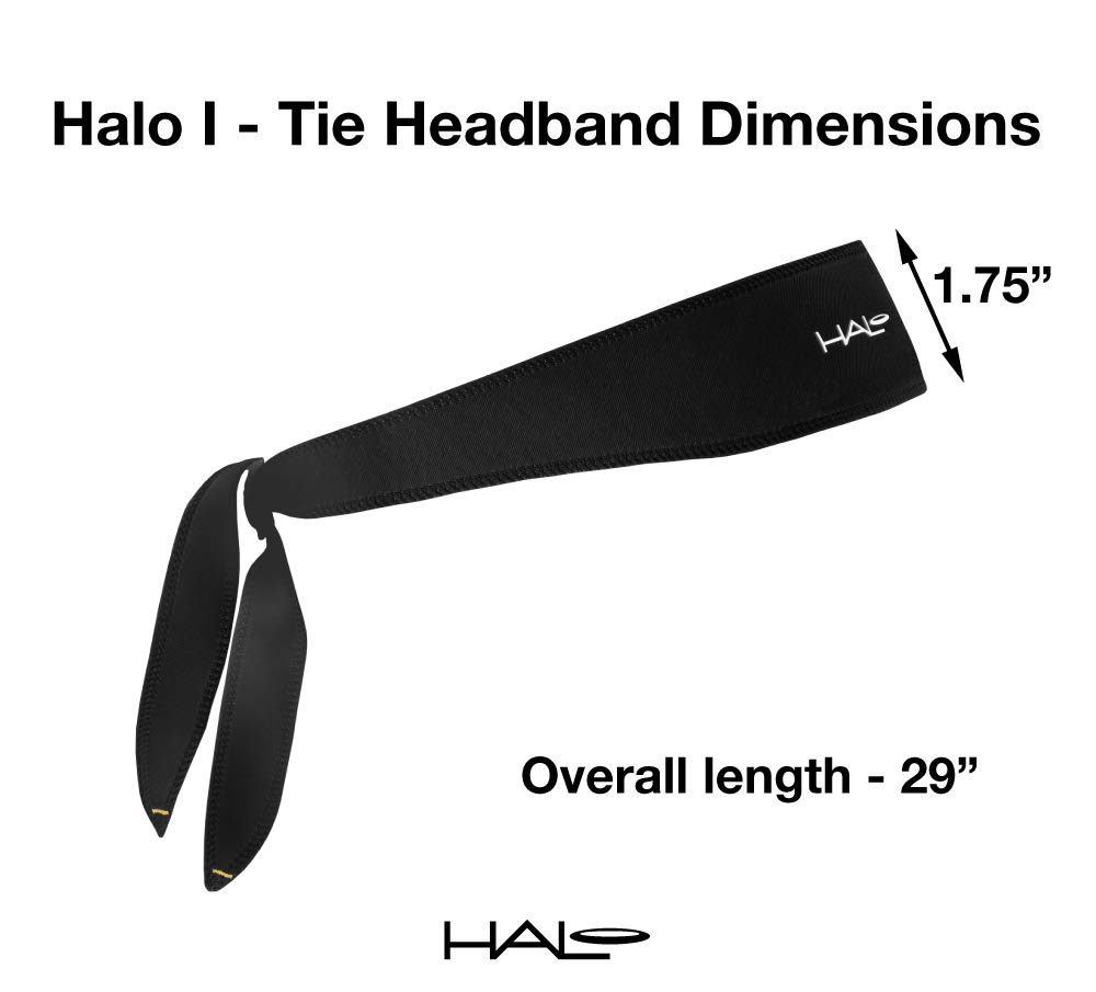 Halo Headbands Sweatband, Black Tie Dye by Halo Headbands (Image #2)