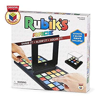 Rubik's Race Game, Head To Head Fast Paced Square Shifting Board Game Based On The Rubiks Cubeboard, for Family, Adults and Kids Ages 7 and Up: Game: Toys & Games
