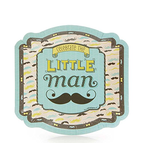 Big Dot of Happiness Dashing Little Man Mustache Party - Baby Shower or Birthday Party Dessert Plate (8 count) for $<!--$7.49-->