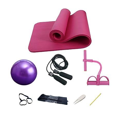 Koshsha 2-Piernas De Yoga Tirador De Pedal + 1 Yoga Mat + Cuerda De