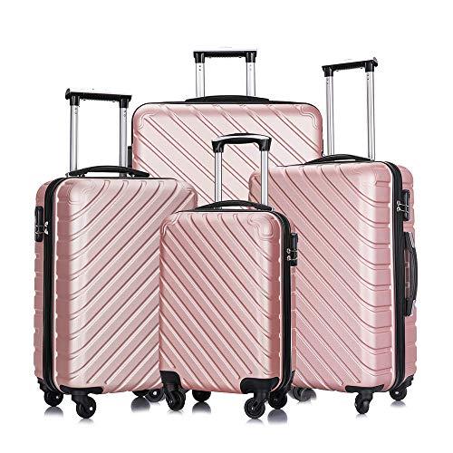 4 Pieces Luggage Suitcase Sets Spinner Wheel Hardshell Lightweight Luggage 18