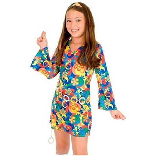 [60's Flower Power] (Wild Flower Child Hippie Costume)