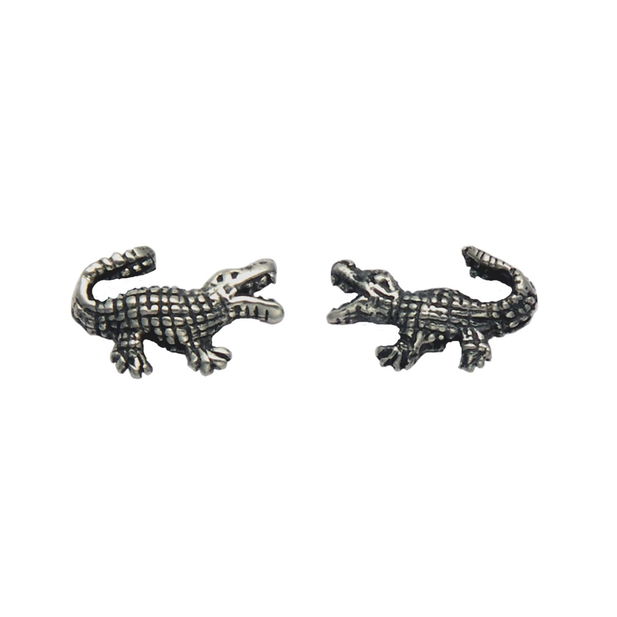 Small Sterling Silver Alligator Stud Earrings