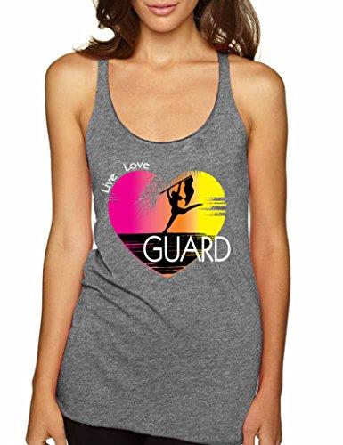 Allntrends Women's Tank Top Guard Art Pink Print Love Sport Tank Top (L, Premium (Art Print Tank Top)