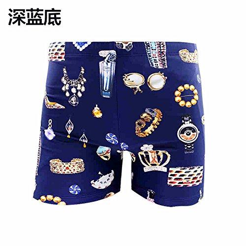 bleu XXXXL HAIYOUVK Couples Hommes's Handsome Swimming Suit Comfortable plage courtes Boxer courtes Swim Pants Hot Spbagues