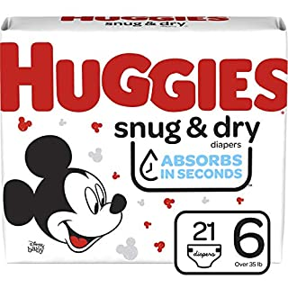 Huggies Snug & Dry Baby Diapers, Size 6, 21 Ct