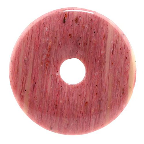 - Beautiful Sea Sediment Jasper Donut Pendant Bead 50mm More Material Offer (Rhodonite)