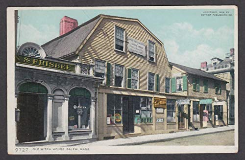 Frisbee Castoria Gould Plumber Old Witch House Salem MA postcard 1910s