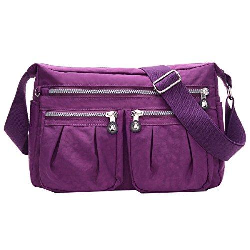 Bolsos De Nylon Yy.f Oxford Tela Lona bolso De La Señora Bolso Del Mensajero Bolsos Ocasionales La Nueva Bolsa De Mono. Multicolor Purple