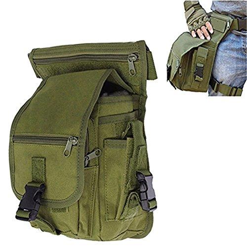 Fontic Borsa da Gamba, Militare MOLLE EDC Tattico Marsupio / Borsa Multiuso/ Waist Bag/CS Drop Leg Bag/ Borsa Utility per Sport Trekking Escursioni Bicicletta Viaggio Militare Sportivo Corsa Outdoor