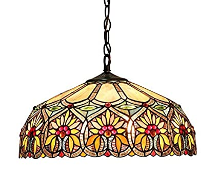Amazoncom Chloe Lighting CHBFDH Sunny TiffanyStyle - Tiffany kitchen ceiling lights