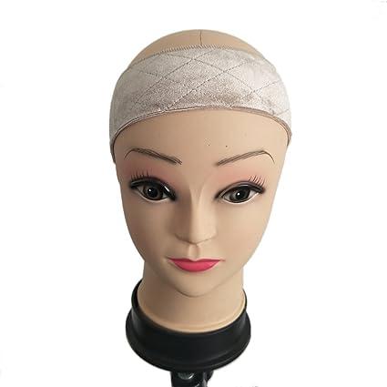 Peluca de terciopelo, banda de agarre de peluca ajustable de velcro para maquillaje, cinta
