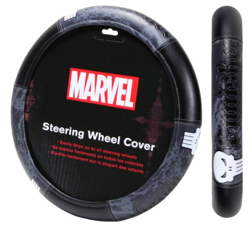 Plasticolor 006753R01 Marvel Punisher 'Speed Grip' Steering Wheel ()