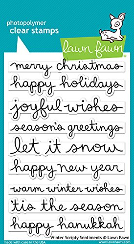 Lawn Fawn Winter Scripty Sentiments Clear Stamps (LF1773) -