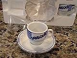 Levtov Espresso Italia Set Of 2 Cappuccino Cups/Saucers Italian Collection YASOU