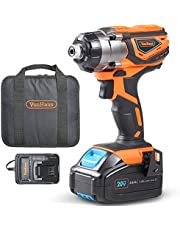 """VonHaus Cordless Impact Driver with 3.0Ah Li-ion 20V MAX Battery, Charger & Power Tool Bag - Includes Direction Control & Variable Speed Trigger (¼"""" Hex Drive, 120Nm Torque)"""