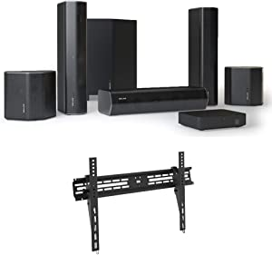 Enclave EA-200-HTIB CineHome II Wireless 5.1 Home Theater Surround Sound - CineHub Edition Bundle with Deco Mount 37