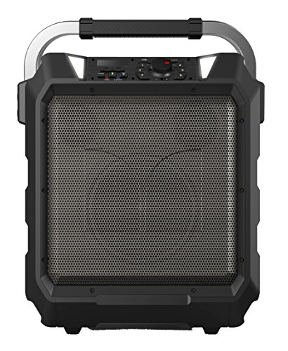 Monster Rockin' Roller | 80 Watts, 80 Hour High Performance Water Resistant Outdoor/Indoor Wireless Bluetooth Speaker, Night View LED (Black)