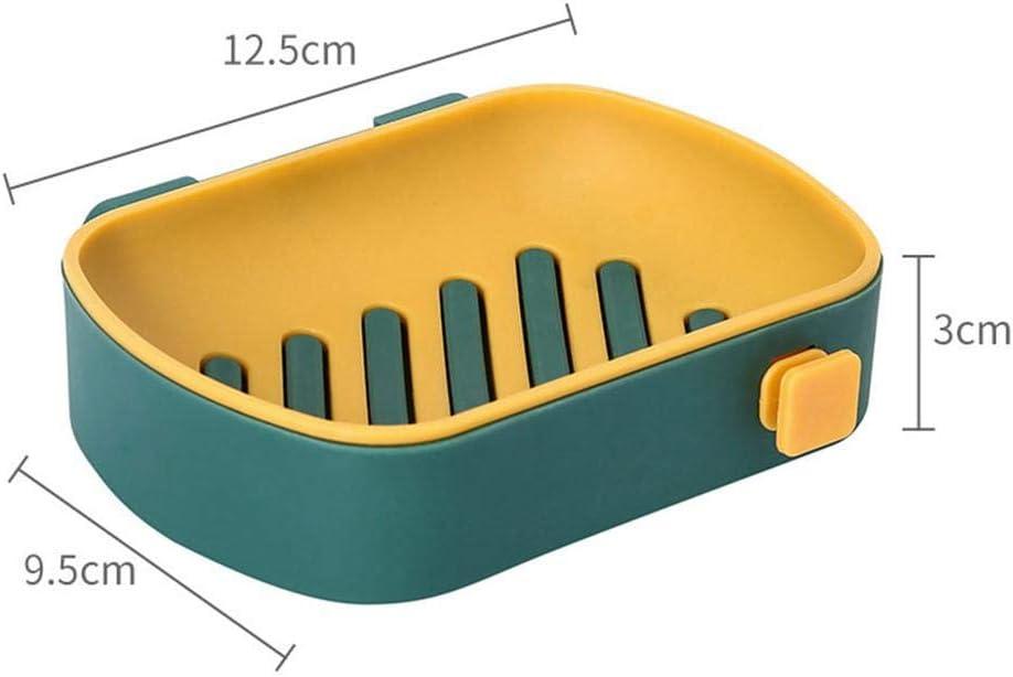 plastica PP. per Porta Sapone da Bagno per Doccia Portaoggetti per portaoggetti HizoeChu Porta Sapone per Tazza Parete con Vassoio di Scarico