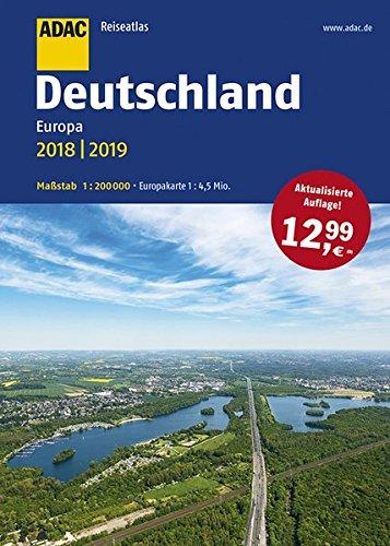 ADAC Reiseatlas Deutschland, Europa 2018/2019 1:200 000 (ADAC Atlanten) Taschenbuch – 30. Juni 2017 XXX 3826422481 Karten / Stadtpläne / Europa Mitteleuropa