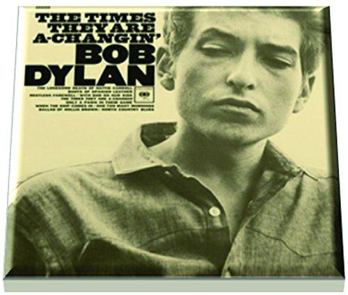 (Bob Dylan Folk Rock and Roll Albums Reproduction the Times They Are a Changin' on Ceramic Coaster)