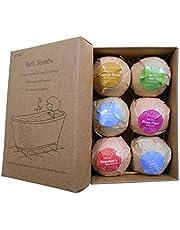 Studyset 6pcs/Set Organic Handmade Bubble Bath Bombs for Women Relaxation & Aromatherapy Best Gifts