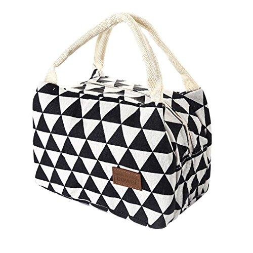 Sothread Canvas Reusable Insulated Lunch Bag Portable School