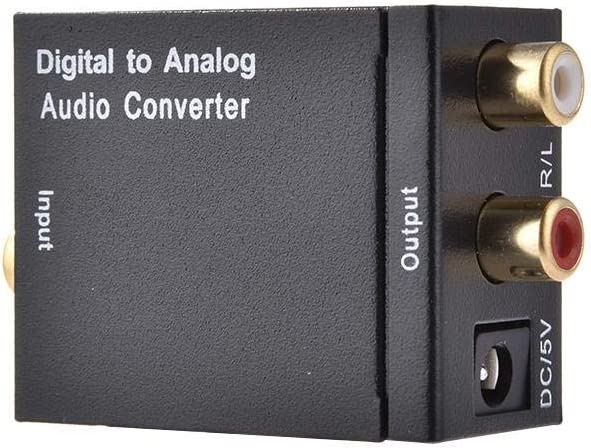 getherad DAC Digital to Analog Converter Audio Converter Adapter Optical S//PDIF Toslink//Coaxial to RCA L//R Black Valuable