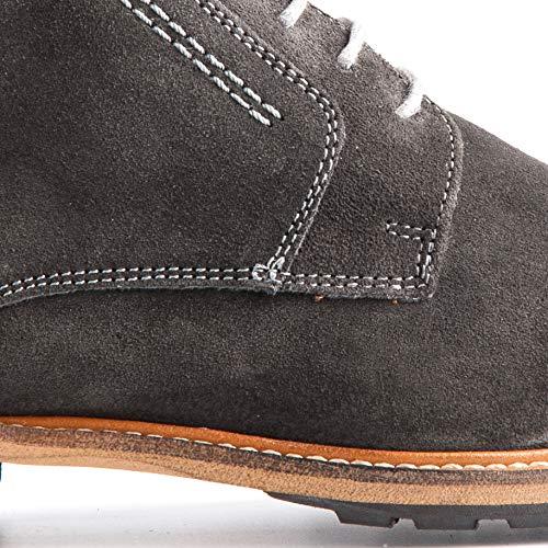 Travelin' London Suede Chukka Boots | Schnürhalbschuhe Herren | Schuhe Freizeitschuhe Hochzeitschuhe | Business Schuhe | Anzugschuhe | Wildlederschuhe in Vielen Farben Dunkel Grau f410b6