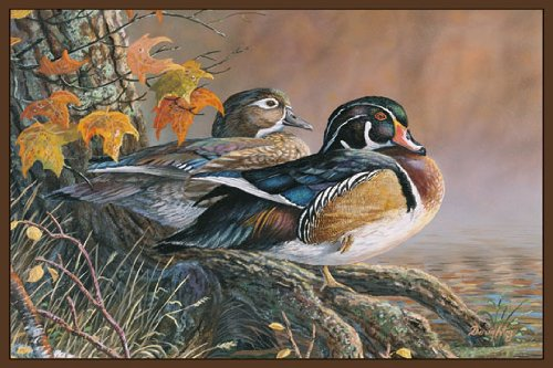Duck Rug (Wildlife Wood Ducks Novelty)