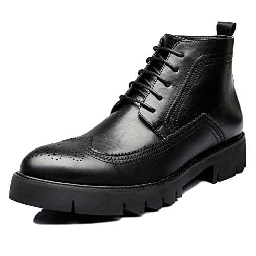 Martin Boots Oxford Shoes Botas De Adultos Botas De Seguridad Classic Leather Otoño E Invierno Round Head High Help: Amazon.es: Zapatos y complementos