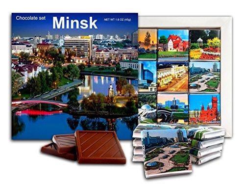 Da Chocolate Candy Souvenir Minsk Belarus Capital Chocolate Gift Set 5X5in 1 Box  Night