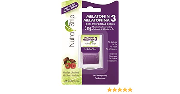 Amazon.com: Nutra-Strip Melatonin 3 / Melatonina 3 X10 Pack: Health & Personal Care