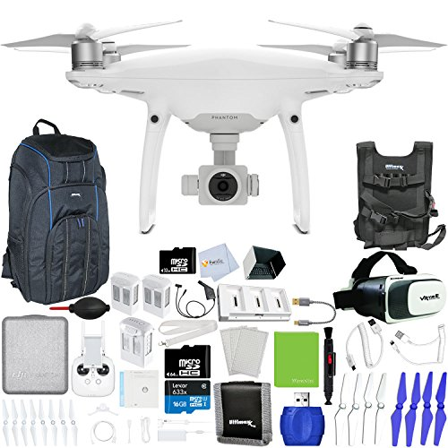 DJI-Phantom-4-Pro-Quadcopter-Xtreme-VR-Vue-II-For-iPhoneAndroid-Screen-Size-35-6-2-Intelligent-Flight-Battery-5350mAh-Backpack-Pro-II-Multi-Charger-Hub-Sunshade-Hood-More