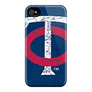 DeanHubley Apple Iphone 4/4s Bumper Hard Phone Cases Unique Design Attractive Minnesota Twins Series [rOr2904gkVF]