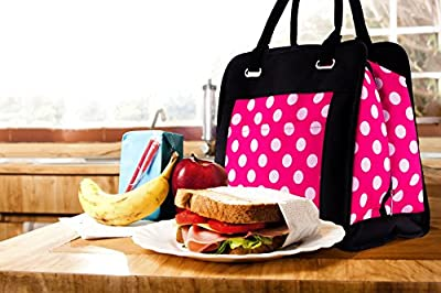 The Cooler Lunch Bag insulated cooler lunch bag for women pink black women's food storage with ice packs