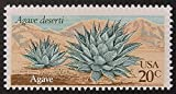 Agave Deserti Agave USA Flowers & Plants -Framed Postage Stamp Art 8310
