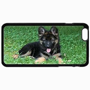 Fashion Unique Design Protective Cellphone Back Cover Case For iPhone 6 Plus Case Dog Black
