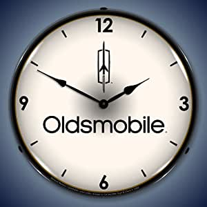 Oldsmobile Logo Lighted Wall Clock