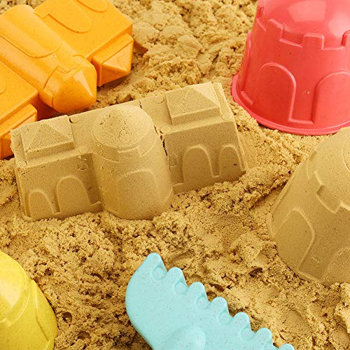 AMOR 19 Pieces Beach Sand Toy Set, Summer Outdoor Beach Toys for Toddlers, Castle Sand Toys for Kids, Boys, Girls