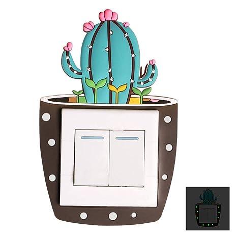 Embellecedor presernvador de silicona para interruptores cactus 2 fluorecente decorativo y practico casa, bares,