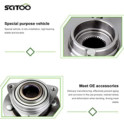 SCITOO Compatible with Pair (2) New Wheel Hub Bearing Front fit 03-07 Saturn Ion 05-09 Chevy Cobalt 513205 X 2: Automotive