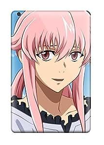 Anti-scratch And Shatterproof Pinkanime Pink Mirai Nikki Gasai Yuno Phone Case For Ipad Mini/mini 2/ High Quality Tpu Case
