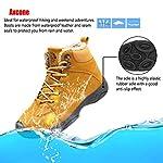Axcone Homme Femme Chaussures Trekking Randonnée Bottes de Neige Hiver Imperméable Outdoor Boots Fourrure Cuir… 12
