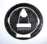 Ducati Diavel Panigale Monster Streetfighter S Real Carbon Fiber Fuel Tank Cap Filler Cover Pad trim