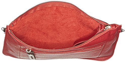 Paquetage BT, Poschette Giorno Donna Rosso (Rouge (081/Cooked))