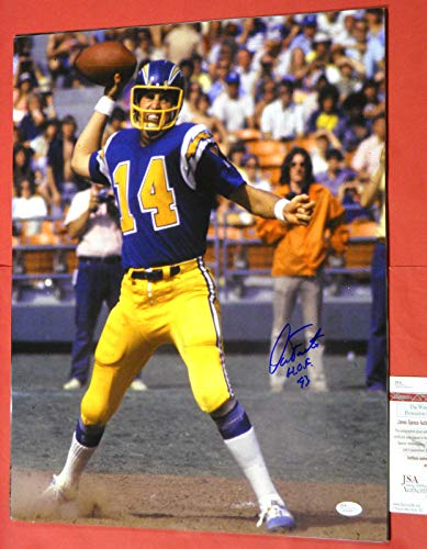 DAN FOUTS AUTOGRAPHED 16X20 PHOTO SAN DIEGO CHARGERS JSA HOF ()